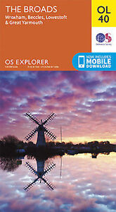 OL40 The Norfolk Broads Ordnance Survey Explorer Map OL 40