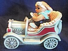"""Exquisite Vintage Pendelfin """"The Dasher"""" Bunny In Model T Meticulously Detailed"""