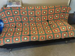 vintage afghan blanket granny squares