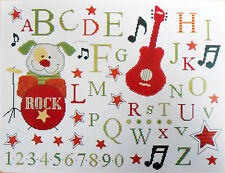 Rockstar Pete Alphabet Sampler- Cute Puppy - DMC counted cross-stitch kit