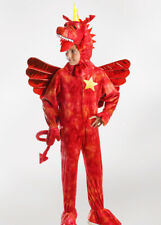 Kids Zog Style Red Dragon Costume with Horn