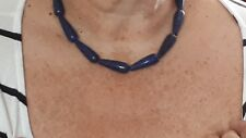507 carats Lapis Lazuli Sterling Silver Set bracelet and necklace