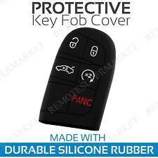 Key Fob Cover for 2014-2019 Jeep Grand Cherokee Remote Case Rubber Skin Jacket