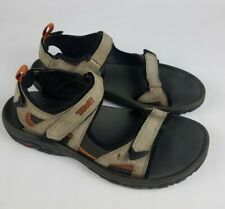 Teva Mens US 13 Tan Sandal Suede S/N 4144 Trail Hiking Strappy Shoes Open Toe