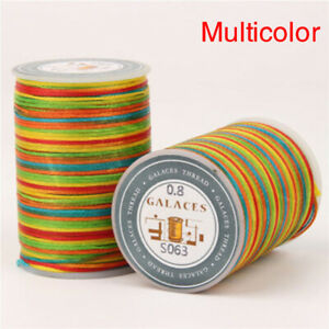 0.8mm Flat Waxed Thread Cord String For Jewelry Making Bracelet Necklace Craft