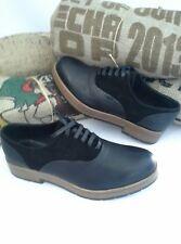 Free People San Fran Platform Oxford Shoe Black Leather Sz 39