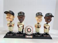 2001 MLB SF Giants Collectors Series COMPLETE Bobblehead Doll Set Bonds Baker