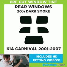 Pre Cut Window Tint - Kia Carnival 2001-2007 - 20% Dark Rear