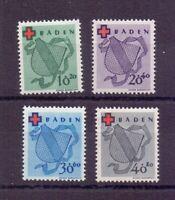 Frz. Zone Baden 1949 - Rotes Kreuz - MiNr.42/45 postfr.**- Michel 110,00 € (397)
