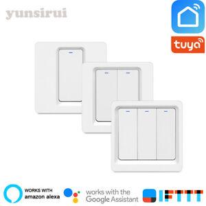 WiFi 1 2 3 Gang  Push Button Smart Switch Smart Life/Tuya APP Control for Alexa