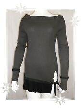 A - Haut T-shirt Fantaisie Marron  Noir Copine Modèle Obiala  T2 - 38 / 40