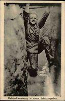 Feldpostkarte 1. Weltkrieg Soldat Überschwemmung Schützengraben ab GRAUDENZ 1916