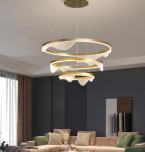 Modern Wave Aluminum Chandelier Cloud Art Home Living Dining Room ring Light
