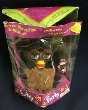 1999 Tiger Electronics Furby Black Brown with Grey Eyes 1st Gen FREE SHIPPING!