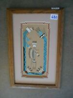 Navajo Sand Painting by listed  artist Darlene Johnson done  mid 20th cent.