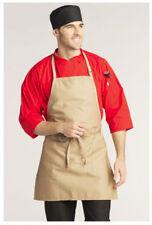 "Bib Apron, 2 Pockets, Adjustable Neck, Color: Khaki, Size: 23""W x 30""L - 3016"