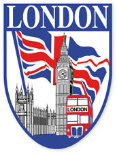 British London Union Jack Icons Shield Car Bumper Window Sticker Decal Vinyl