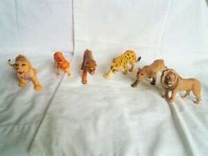 Exotic Cat Figure Lot Lions, Tigers, Cheetah and Cougars, Schleich Plastic