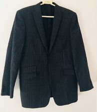 Fellini, By Slaters 1 Button Down Black Striped Jacket/Coat Size M Slim Fit