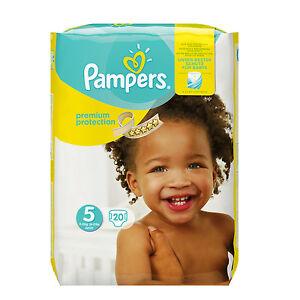 Pampers Premium Protection Windeln Größe 5 Junior 11-23kg 20 STÜCK Sanft Seide