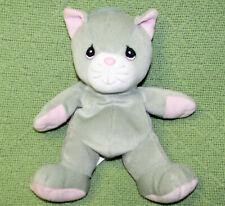 VINTAGE PRECIOUS MOMENTS GRAY CAT Tender Tails FUN CLUB Toy Animal 1999 Plush