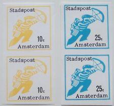 Stadspost Amsterdam 1969 - 2 paartjes Brievenbesteller ongetand