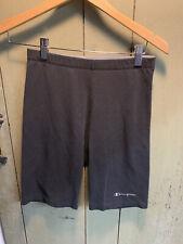 Champion 90s Black Logo Cotton Hi-Rise Biker Yoga Vintage Shorts XL