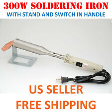300W Heavy Duty Soldering Iron with STAND Chisel Point 110V  300 Watt High Temp