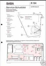 Saba Original Service Schaltplan für ultra clock S