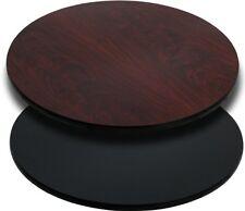 "Flash Furniture 30"" Round Table Top w/Black or Mahogany Reversible Laminate Top"