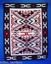 Navajo Indian Rug: Black Teec Nos Pos by Dadabah Blueye c.1980
