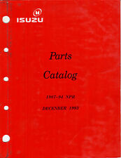 ISUZU-CHEVY FCTRY PARTS CATALOG: 1987-1994 NPR, NPR HD - GAS & DEISEL- HARD COPY