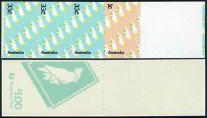 Australia 947-948a booklet,MNH.Michel 918-919 MH. Australian Cockatoo,1985
