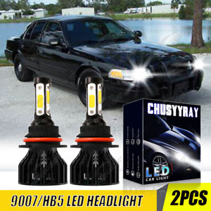 For FORD Crown Victoria 1998-2011 9007 6000K LED Headlight Bulbs High-Low beam