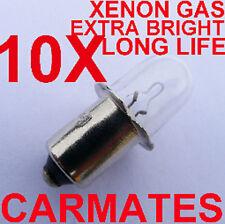 10 flashlight Torch XENON Gas Bulbs 18V for Milwaukee Makita DeWalt fishing OZ