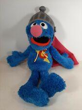 "Sesame Street Super Grover Talking Plush 15"" ~ 2010 Hasbro ~ Works!  EUC!"