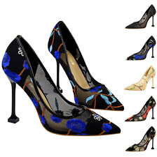 Women's Wedding Shoes Stiletto High Heels Hollow Pointed Toes Fashion Pumps New