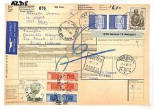 AZ315 1981 Switzerland HIGH VALUES Glion *Insured Mail* Card Italy PTS