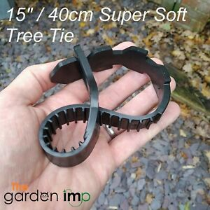 """Tree Ties Super Soft Rubber Adjustable Strap Plant Stake Support 15"""" / 40cm"""