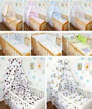 Baby Bettset 5-20 tlg mit Vollstoff Himmel Bettwäsche Nestchen  Wickelauflage