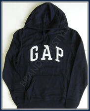 GAP Hoodie NAVY BLUE, WHITE ARCH LOGO Long Sleeve Sweatshirt Men SIize S NEW