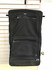 Louis Vuitton Taiga Black Gray Travel Garment Bag Suitcase