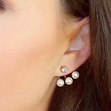 Kristin Perry Floating Pearl Ear Jacket Earrings Ear Cuff