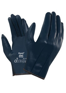 Ansell Hynit 32-105 Blue Fully Coated Nitrile Glove - All Sizes