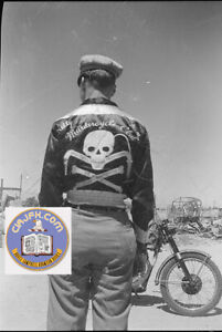 """1950s """"Kelly....Murdercycle Club"""" San Antonio Two 8 x 10 Front and Back Reprints"""