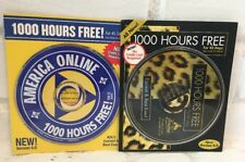 2 America Online AOL CD Collectible 6.0 Version Optimized 1000 Hrs Free