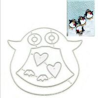Stanzschablone Pinguin Herz Tier Weihnachts Hochzeit Geburtstag Karte Album Deko