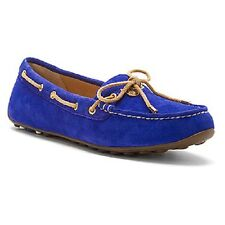 SPERRY® Top-Sider Blue Suede Laura Flats Driver Shoes NIB Womens Size 7.5 / 38