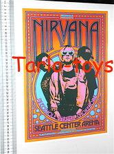 NIRVANA Kurt Cobain - Seattle Us - 8 gennaio 1994 poster concerto