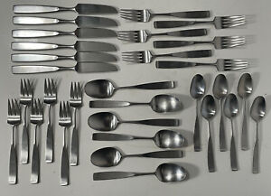 Towle Lauffer Design 2 NORWAY 188 Dinner Fork 7\u201d Stainless Flatware MCM Midcentury Scandinavian Design Don Wallance